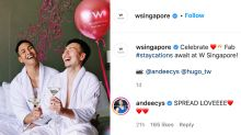 W Singapore underscores inclusive policy with viral post featuring gay couple