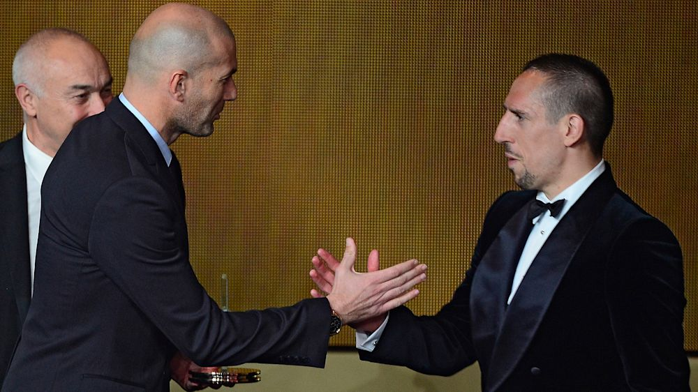 """Bayern Munich, Ribery : """"Par chance, Zidane n'est plus sur le terrain"""""""