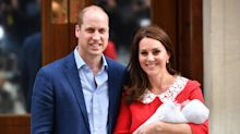Duchess of Cambridge wears Jenny Packham to present new royal baby to the world