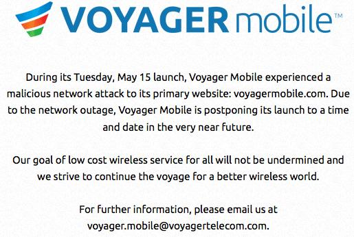 Voyager Mobile endures 'malicious network attack,' delays launch to the 'very near future'
