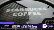 Starbucks lower after Goldman Sachs downgrade