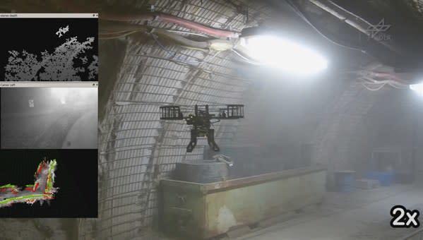 Video: DLR schickt Quadrocopter in Kohlenmine