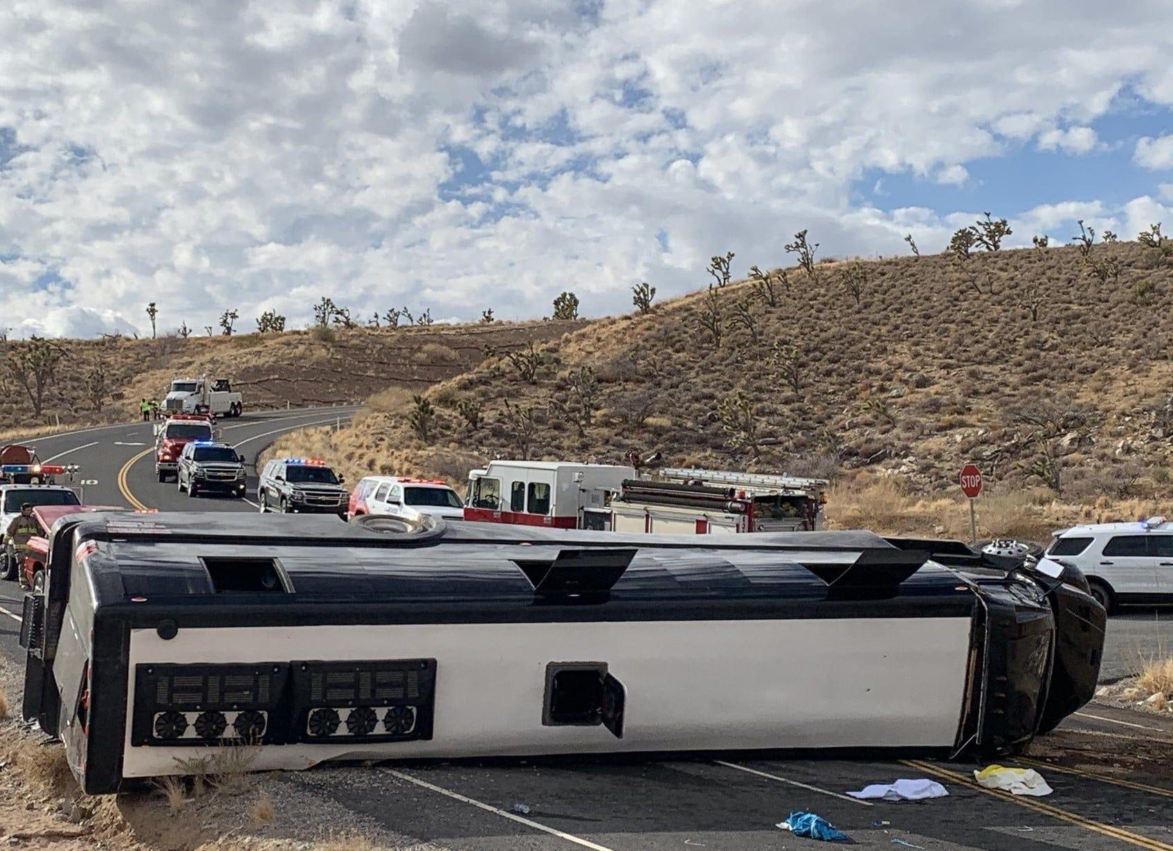 One Person Killed, Two Critically Injured After Tour Bus Crashes on Its Way to Grand Canyon West