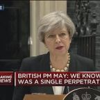 UK leader Theresa May condemns 'warped and twisted' terror attack in Manchester