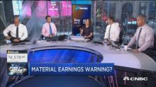 A material earnings warning?