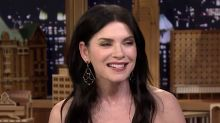 Julianna Margulies Uses Donald Trump Poop Bags To Pick Up After Her Dog