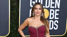 Get the look: Sofia Vergara's mauve lips at the Golden Globes