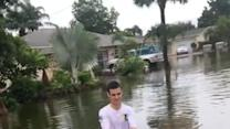 Kneeboaridng the Flooded Streets of Southwest Florida