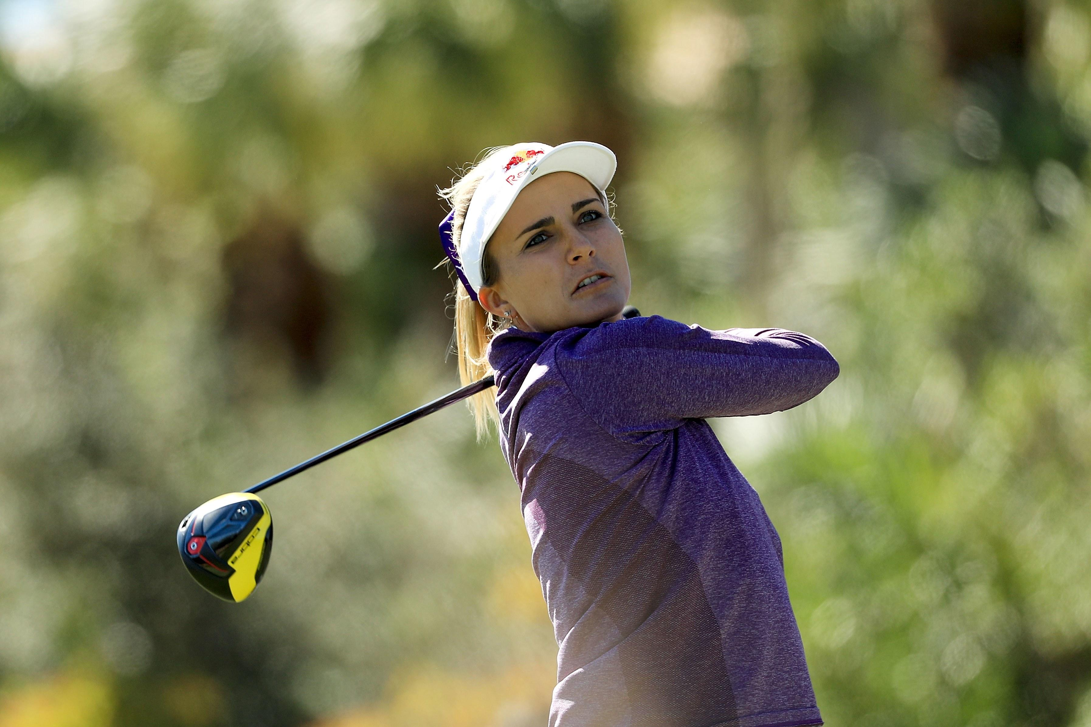 Lexi Thompson enjoys another week playing against the guys, outdriving Charley Hoffman and getting Tiger Woods' attention