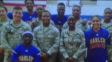 Harlem Globetrotters honor America's heroes