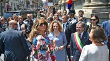 Melania Trump Wears Incredible $51,500 Floral Jacket for Final Day Abroad