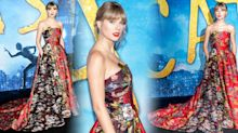 Taylor Swift stuns in Oscar de la Renta gown at Cats premiere