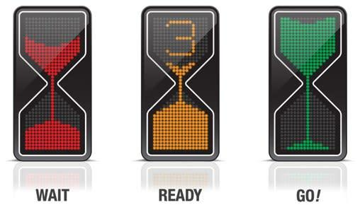 Sand Glass traffic light concept: it's about time