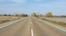 ¿Qué significan estas líneas verdes en la carretera?