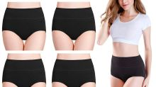 These Stretchy, High-Waisted Cotton Briefs Are Topping Amazon's Charts