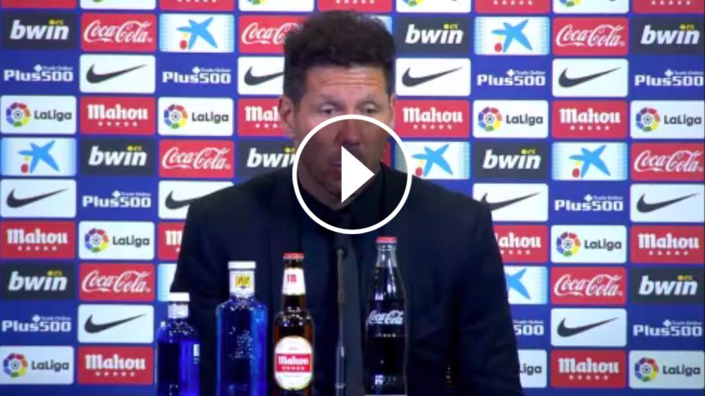 """VÍDEO: Simeone: """"Nos quedan cuatro finales"""""""