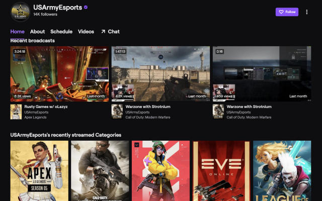 US Army and Navy unban Twitch commenter who criticized the military