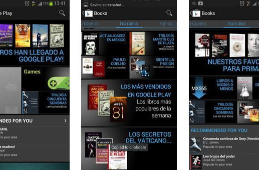 Google Play Books now available in Mexico