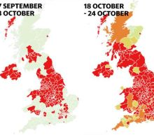 Coronavirus UK map projects which areas likely to become hotspots in coming days