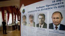 Putin gana elecciones de forma aplastante