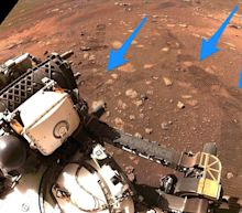 NASA's Perseverance rover just went for its first drive on Mars, then spotted its own wheel tracks in the dirt