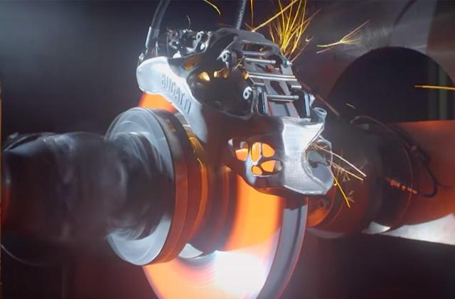Watch Bugatti test the first 3D-printed brake caliper