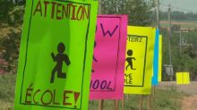 Why students made traffic signs at this school in eastern P.E.I.