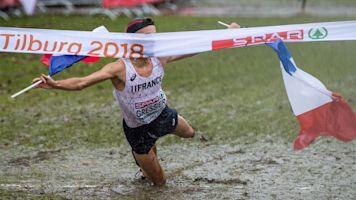 Cross country runner makes his mark on finish line