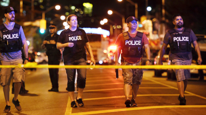 Police: 2 dead, 13 injured in Toronto shooting