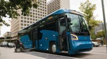 All-new MCI D45 CRT LE commuter coach with breakthrough accessibility passes Altoona test