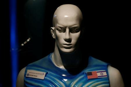 A sculpture of a man wearing Stemrad's new protective vest, Astrorad, is seen at an exhibit at Madatech, National Museum of Science Technology and Space in Haifa, Israel February 23, 2017. Picture taken February 23, 2017. REUTERS/Amir Cohen