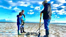 Bronze Age spear found by a metal detectorist on a Jersey beach