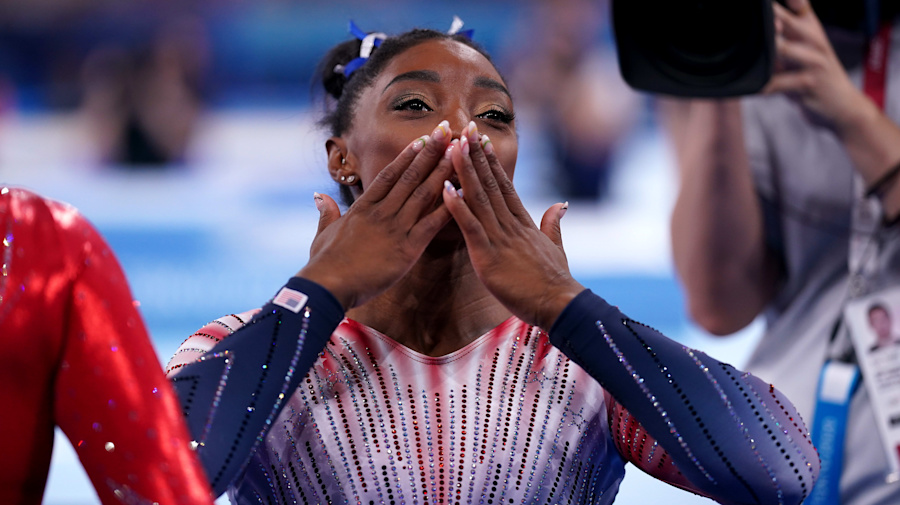 More than a medal: Biles taking home bronze