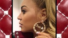 Beyonce Looks Red Hot While Flaunting Her 'Chunky' Jewelry