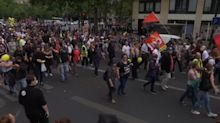 Protestas en Francia en el Día de la Bastilla