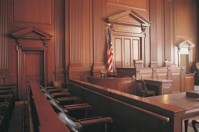 Interior of courtroom