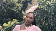Serena Williams stuns in pale pink Versace at royal wedding