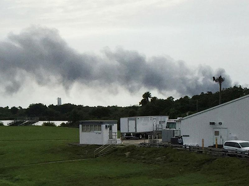 SpaceX Rocket Explodes on NASA Launch Pad at Cape ...