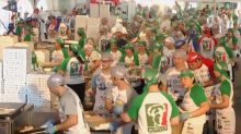 Chefs Bake Record Breaking 11,287 Pizzas In 12 Hours