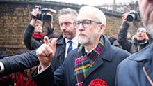 Jeremy Corbyn's grim-faced allies don't want to talk about disastrous election poll