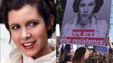 Carrie Fisher fue un icono de la Marcha de la Mujer