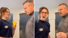 Dad calls daughter's bluff and pranks her before she can prank him