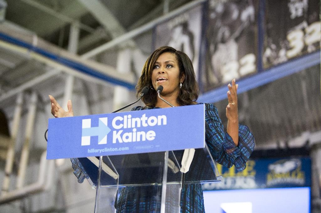 US First Lady Michelle Obama has largely shunned the political limelight to focus on education and health issues (AFP Photo/Jessica Kourkounis)