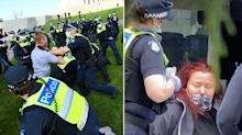 'Tinfoil hat brigade': Multiple arrests as police clash with anti-lockdown protesters