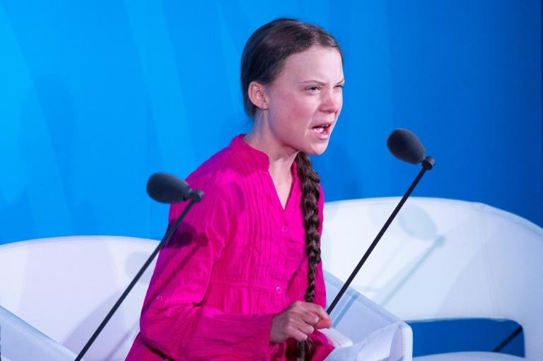 """How dare you?"" Thunberg thundered. ""You have stolen my dreams and my childhood with your empty words"" (AFP Photo/Johannes EISELE)"