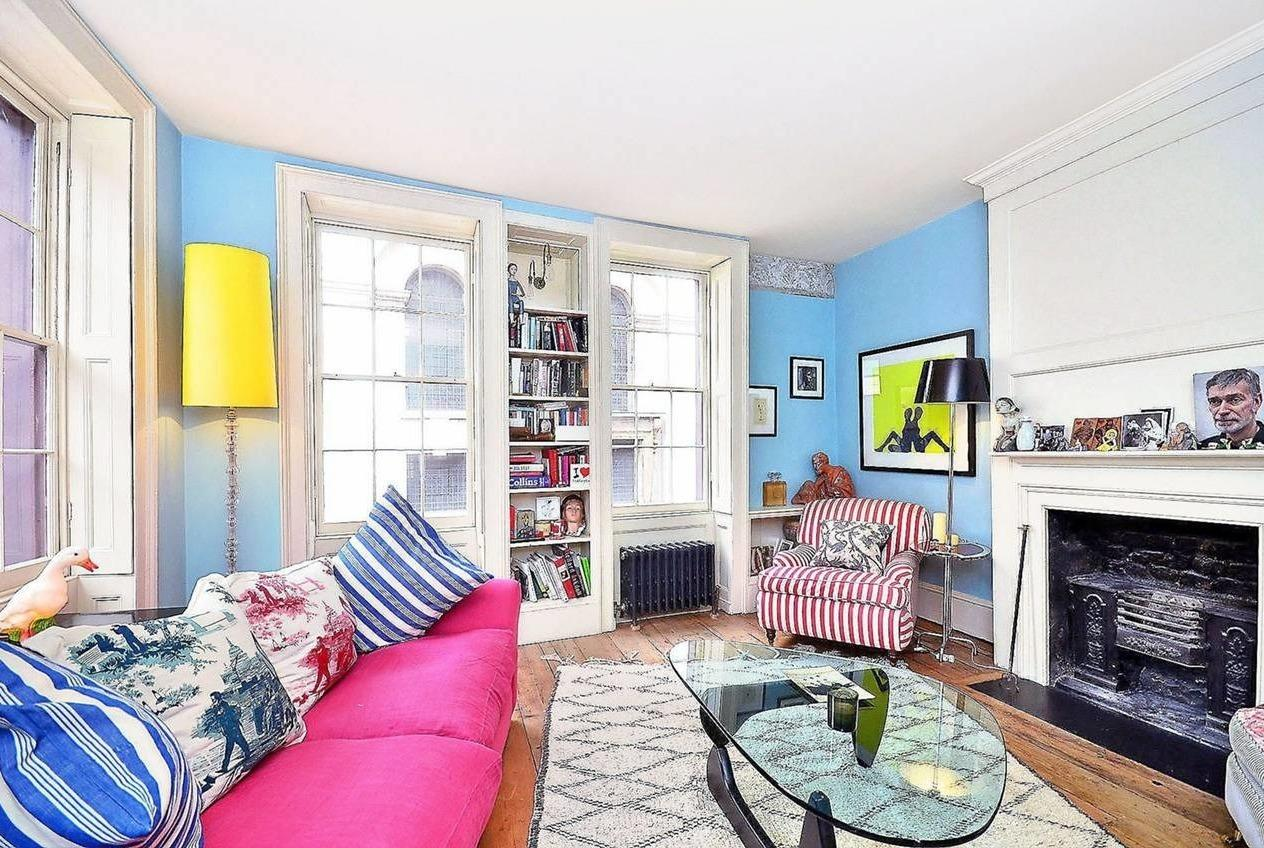 <p>The Huguenot house is located on Fournier Street in a desirable and historic part of Spitafields.</p>  <p></p>