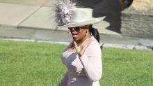 Oprah Winfrey luce como una más de la realeza en la boda de Harry y Megan