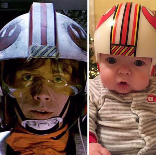 <p>Luke's X-Wing helmet never looked so adorable. (Photos: 20th Century Fox, Mike Sweeney)</p>