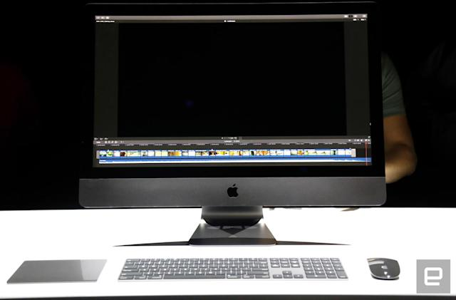 The iMac Pro puts a darker spin on a familiar design