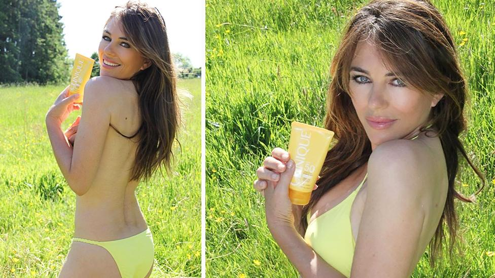 'Stunning!': Elizabeth Hurley, 54, surprises fans with topless snap